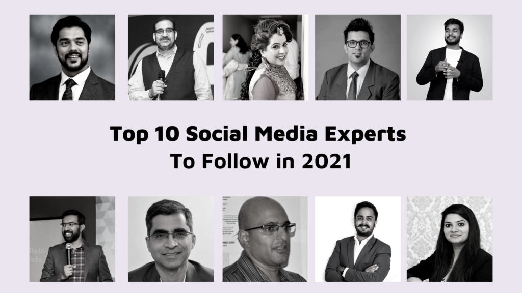 Top 10 Social Media experts to Follow in 2021